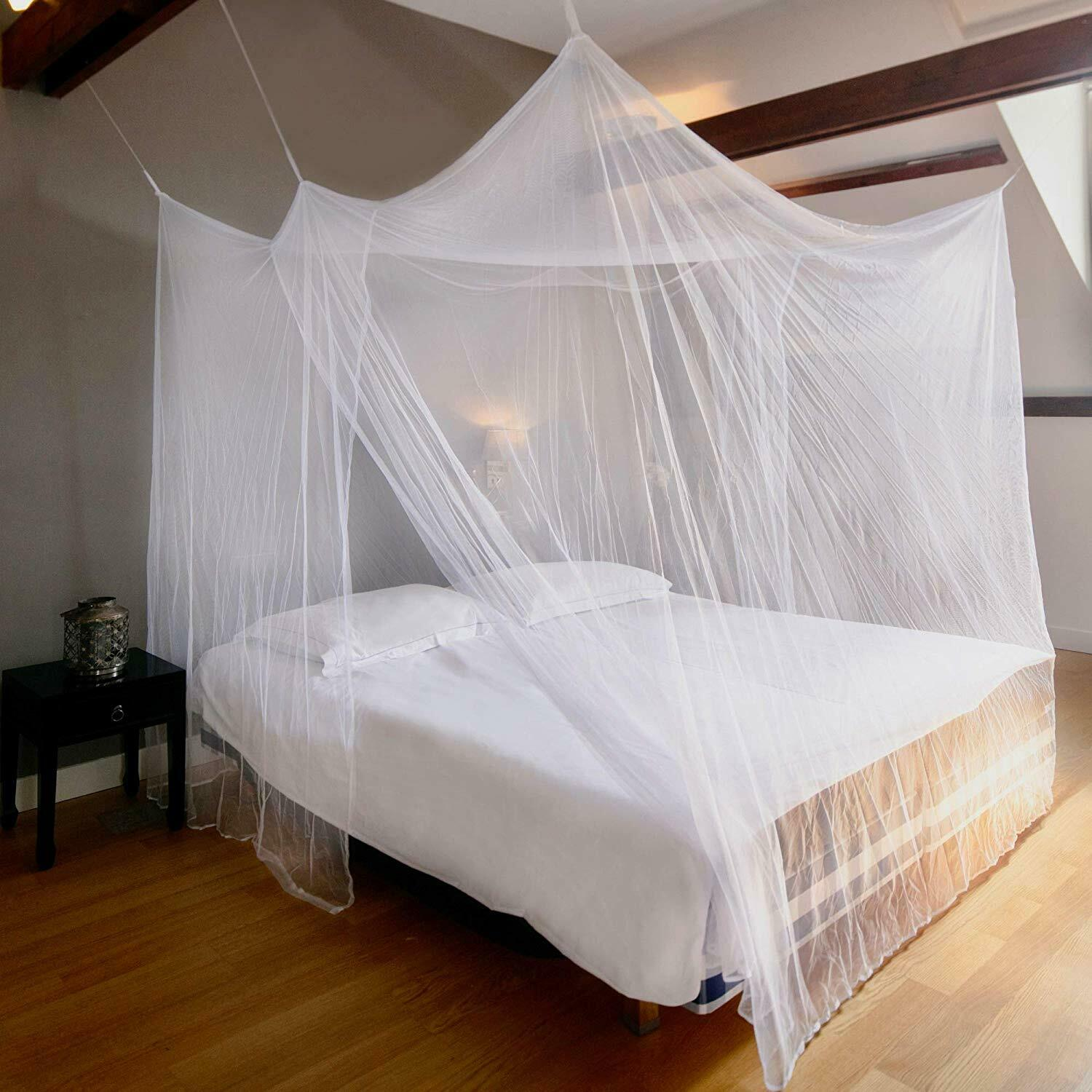 - Mosquito Net Hanging Kit For Double Bed Canopy Rectangular Screen