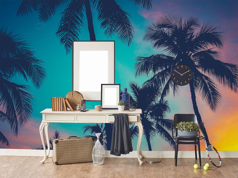 3D Kokosnussbaum Dämmerung Dämmerung Dämmerung 74 Tapete Wandgemälde Tapete Tapeten Bild Familie DE | Clever und praktisch  | Klein und fein  |  76590e