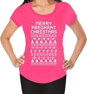 Pregnancy Christmas Sweater.Details About Funny Ugly Xmas Sweater Merry Pregnant Christmas Maternity Shirt Gift Idea