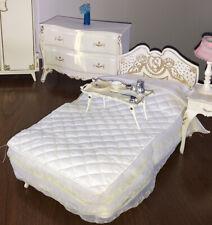 Vintage 1970s Sindy Doll BED & Bedclothes Original Bedroom Boxed Pedigree