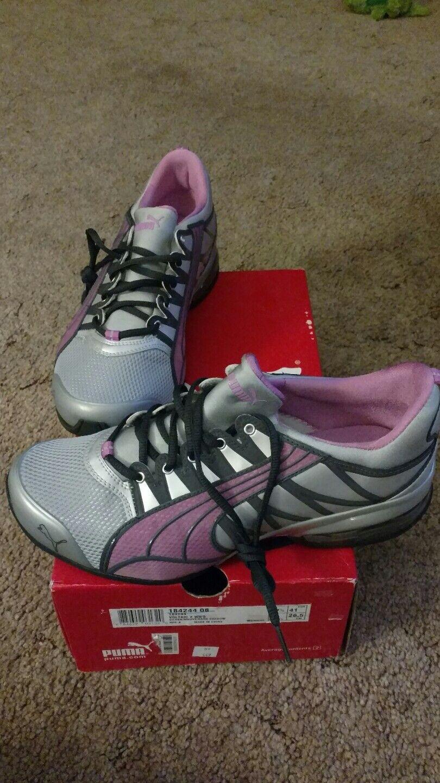 RARE  Womens sz 10 Puma Voltaic 2 pink silver mauve athletic shoes