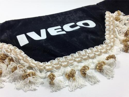 Truck Windscreen Window Shield Pelmet LUX Tassels Waveform Logo BLACK IVECO