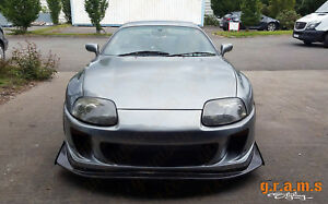 Details about Toyota Supra Ridox Style Front CARBON FIBRE Splitter COMPLETE  with Undertray v5