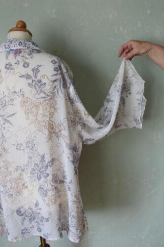 Blau Bluse 52 Transparent Popken 50 Schick Blumen Ulla Shirt Motiv k2 Weiss T6vwI