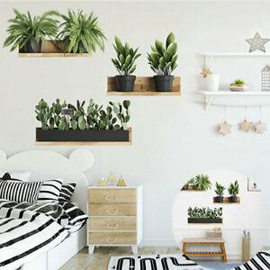 Wall-Sticker-Living-Room-Green-Leaf-Art-DIY-Plant-Mural-Decal-Home-Decor