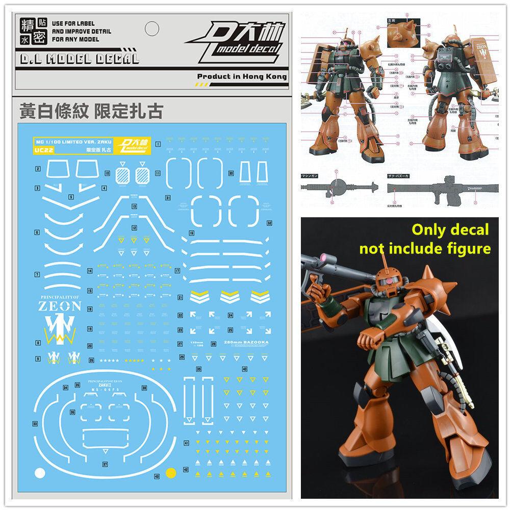 DL Water Decal Stickers for Bandai RG 1//144 MS-06S Zaku II Char ver Gundam Model