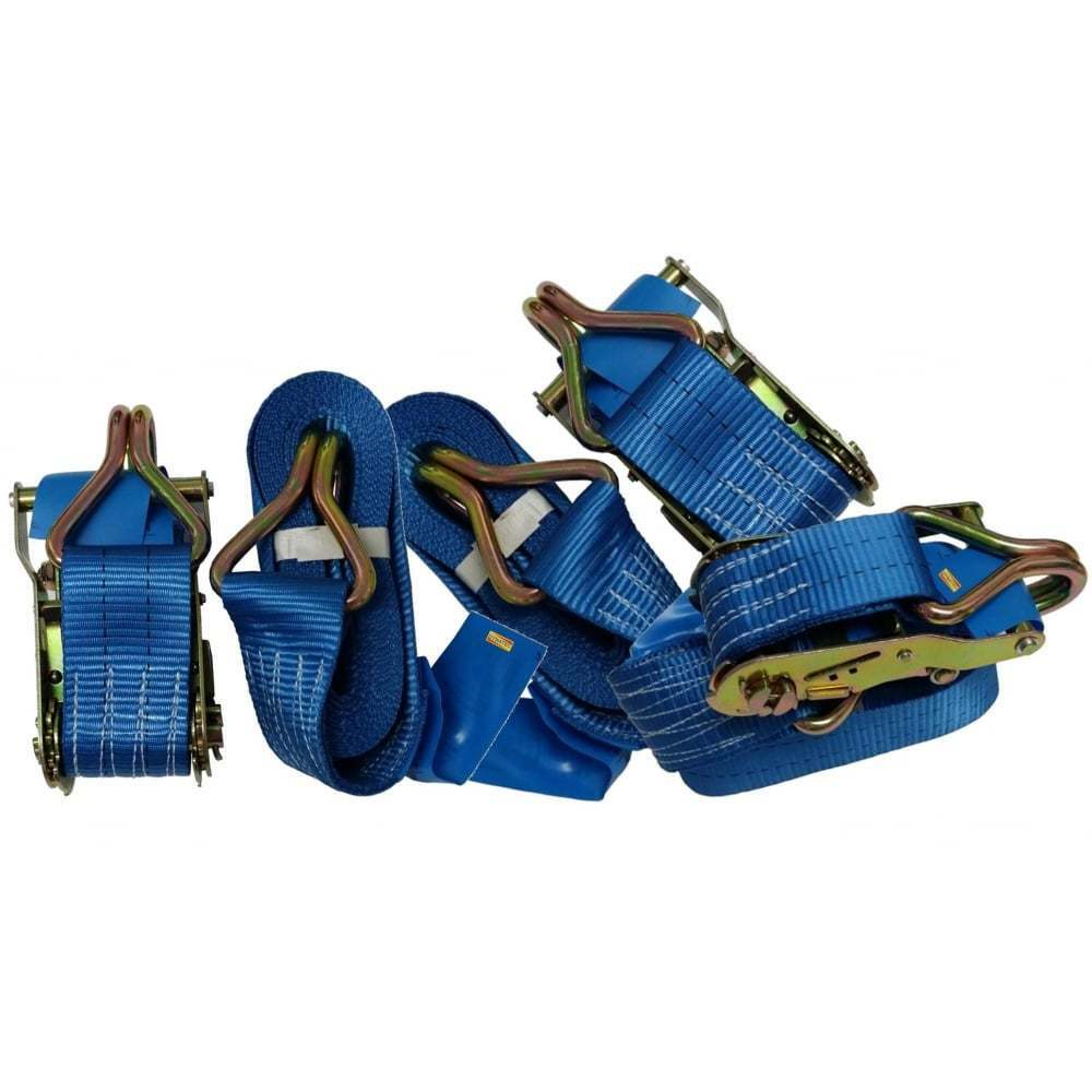 5 Ratchet Strap 4 Tonne Ton 50mm X 8 Metre Loading Lashing Cargo 4000kg Tie Down