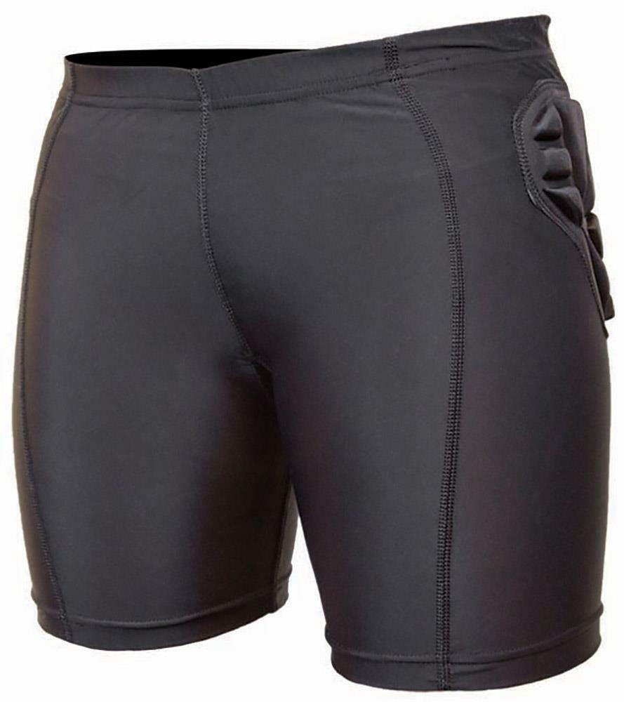 DEMONE DEMONE DEMONE della Pelle da Donna Impatto Pantaloni Corti Neri b3a