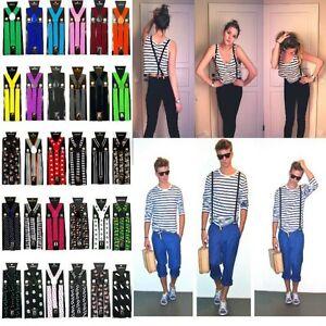 New-Mens-Adjustable-Clip-on-Unisex-suspenders-womens-braces-BD8H4