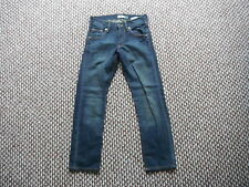"""And & Fit Sqin Jeans Waist 26"""" Leg 24"""" Faded Dark Blue Boys Jeans"""