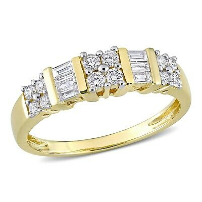 Size-12.5 G-H,I2-I3 1//10 cttw, 3 Diamond Promise Ring in 14K Pink Gold