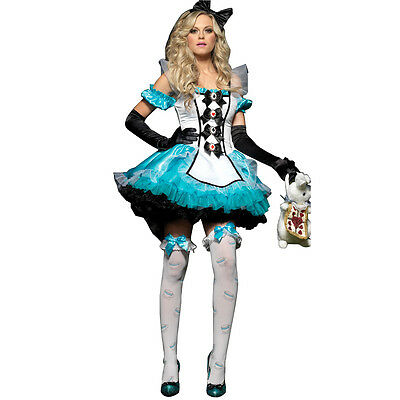 Alice in Wonderland Cosplay Anime Maid's Outfit Fairy Tale Uniform Temptation