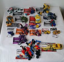 Lot of 16 Transformers Figure, Cars and Parts Lot with manual