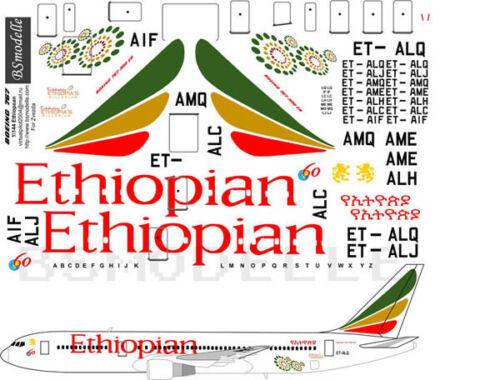 1//144 Boeing 767 Ethiopian decals