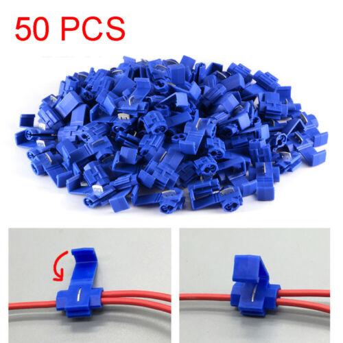 50pcs Quick Splice Lock Suitcase Wire Connectors Electrical-Tap Terminals Crimps
