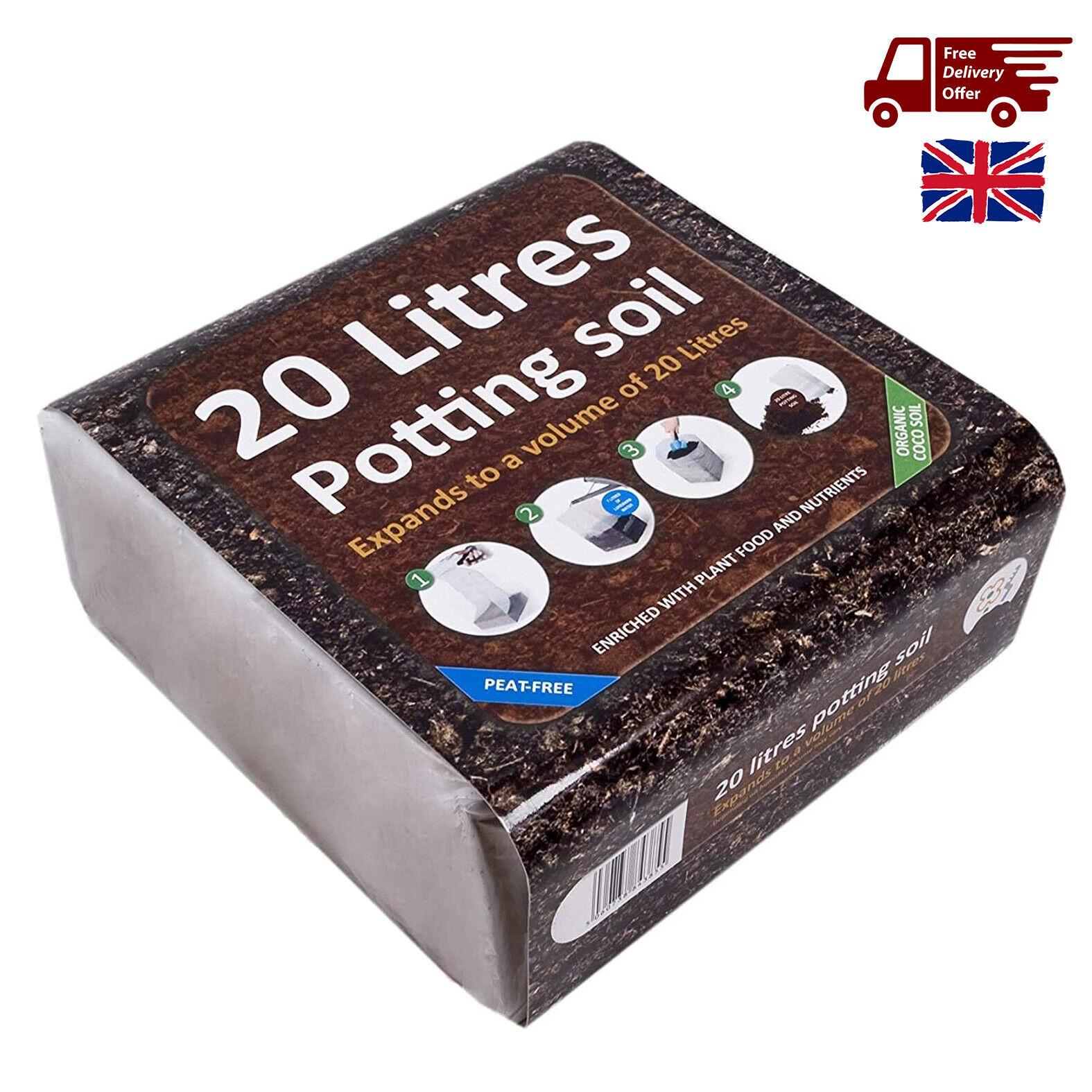 20L Compost Potting Soil Mix Peat Free Multi Purpose Organic Houseplant Outdoor