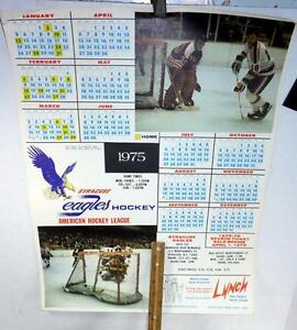 Syracuse Calendar.Details About Vintage 1975 Syracuse Eagles Hockey American League Paper Calendar Ahl