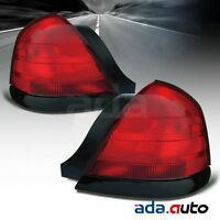 For 2000-2011 Ford Crown Victoria (2 Bulbs Model) Tail Lights Left Right Pair on sale