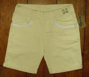 Nuevo con Etiqueta Mujer Auténtico Oakley Primavera Shorts UK12 Desteñido Yellow