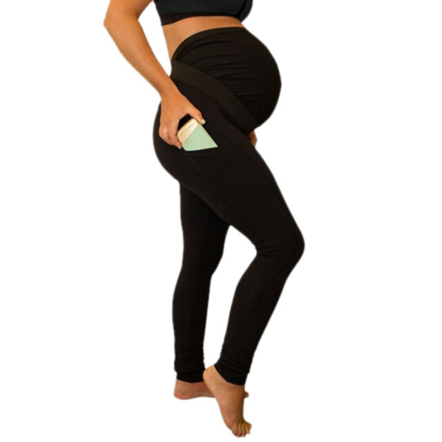 NEW Great Expectations MATERNITY YOGA PANTS Black Fit to Flatter