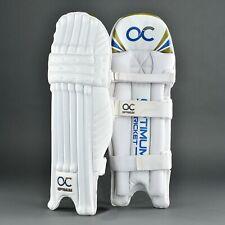 New OC Titanium Professional Cricket Batting Pads Leg Guards Sizes Mens RH-LH