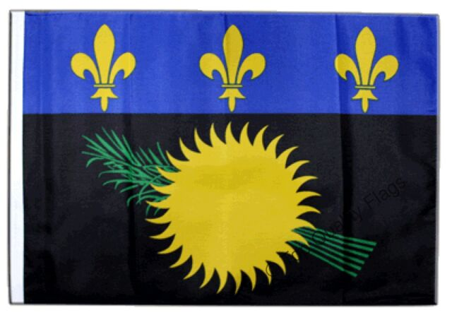 "France Guadeloupe Banner 30x45cm – 18""x12"" Small Flag"
