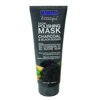 FREEMAN Facial Polishing Mask - Charcoal & Black Sugar - All Skin Types - 150ml