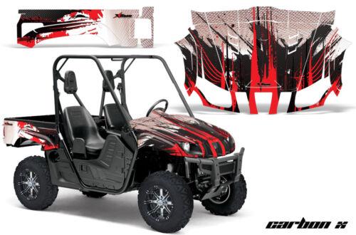 UTV Graphics Kit Decal Wrap For Yamaha Rhino 450//660//700 2004-2013 CARBONX RED