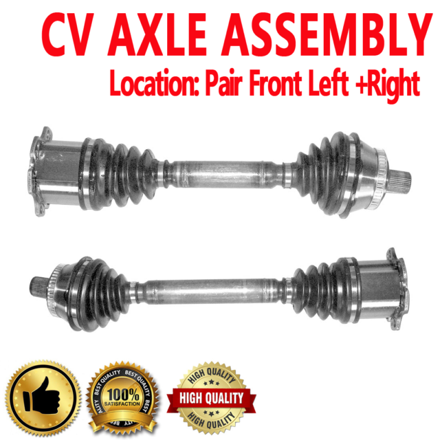 FRONT Driver & Passenger CV Axle Shaft For AUDI RS6 2003