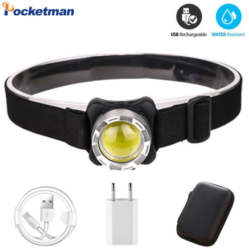 35000LM COB LED Headlamp Rechargeable Headlight Fishing Lamp Built-in Battery
