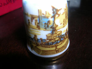 CAVERSWALL THIMBLE Vintage PICCADILLY Square Made in England New in Box