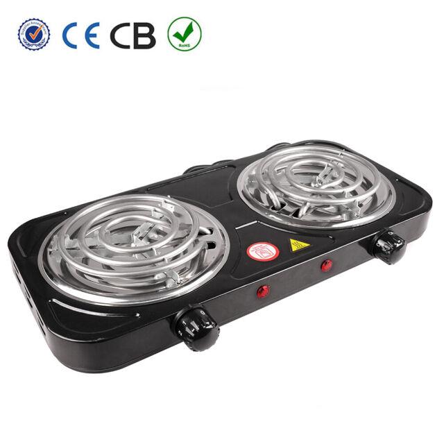 Dual 2 Burner Hot Plate Cooker Kitchen
