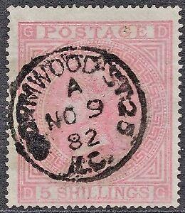 1874-QV-SG127-5s-Pale-Rose-DG-Plate-2-Good-Used-CV-1-500