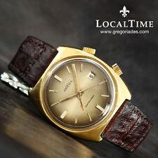 "1960's ANGELUS Swiss ""Datalarm"" Ref. 16/11 B  Vintage Alarm Watch AS Cal. 1568"