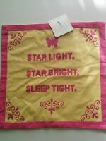 Pottery Barn Kids 'star Light Star Bright' Decorative Pillow Sham 16 Yellow