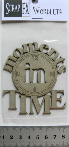 CHIPBOARD Wordlets MOMENTS IN TIME x 3 Mixed Design Choice Scrap FX W1