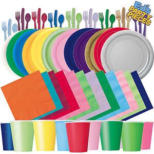 Runde Papier Party Teller Plain Solid Farben Geschirr Veranstaltungen Catering 1