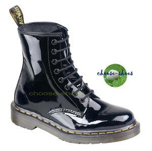 Negro 8 Stiefel loch 1460 Patente 11821011 Martens Doc xAOZa1