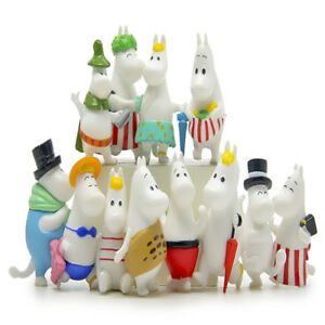 12-PCS-Moomin-Hippopotamus-Family-Anime-Action-Figure-Cake-Topper-Kid-Gift-Toys