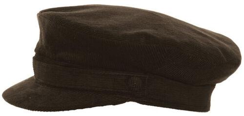 Mens Womens Breton Cap Cadet Style Cord Mariner Sailor Captain Hat 2 Colours