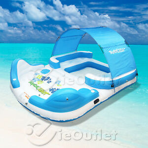 TROPICAL-TAHITI-INFLATABLE-6-PERSON-FLOATING-ISLAND-POOL-LAKE-PARTY-FLOAT-RAFT