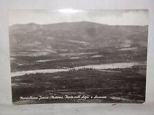 Vecchia foto cartolina d epoca di Montalbano Jonico ponte sull'Agri Aranceti