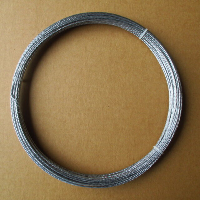 100' Guy Wire Rope Galvanized Steel Cable Antenna Mast Support 4 Strand 2mm