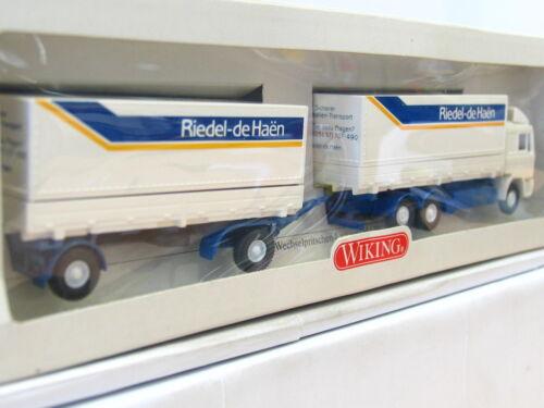 n6681 Wiking 570 50 si wechselpritschenhängerzug Riedel de Häen OVP