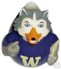 university of washington husky mascot dances plays the school song