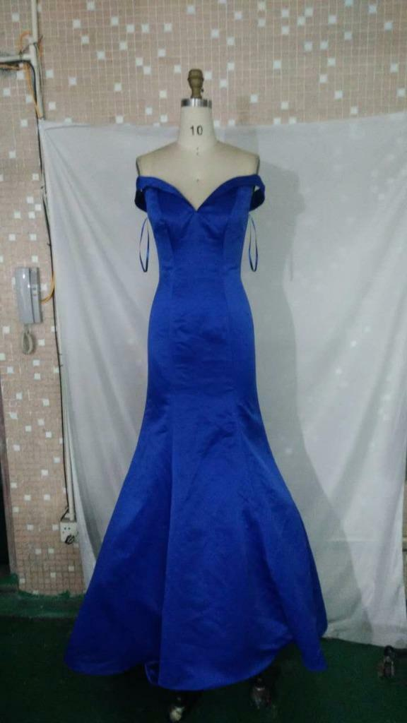 Size 4 Elegant Mermaid with a Train Royal blueee Long  Prom   Pageant Gown