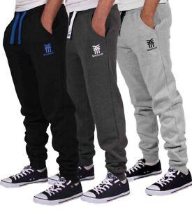 Fenchurch-Uomo-Pile-Jogging-Pantaloni-da-Jogging-Abbigliamento-Palestra-Fondo