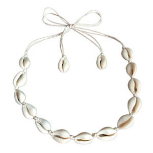 Natural-Beach-Bohemian-Sea-Shell-Pendant-Chain-Choker-Necklace-Summer-Jewelry-US
