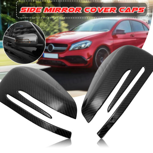 Carbon Fiber Side Mirror Cover Caps For Mercedes W212 X204 W176 W246 W204 C117