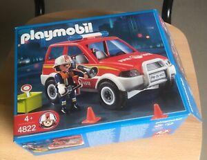 Playmobil 4822 - fireman with car in original box